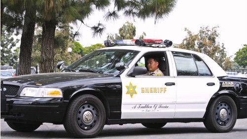 A Los Angeles County Sheriff's patrol car. Photo courtesy sheriff