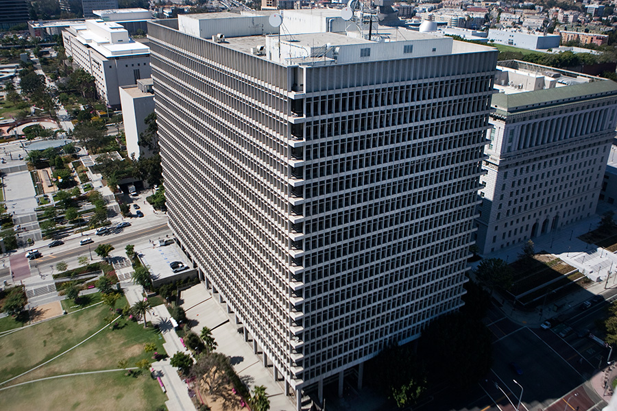 The Criminal Courts building in downtown Los Angeles. Photo by John Schreiber.