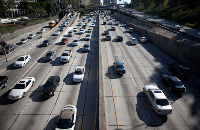 Traffic on a freeway. Photo by John Schreiber.