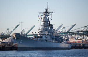 Battleship USS Iowa in San Pedro. Photo by John Schreiber.