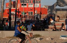 Muscle Beach along the Venice Beach Boardwalk. Photo by John Schreiber.