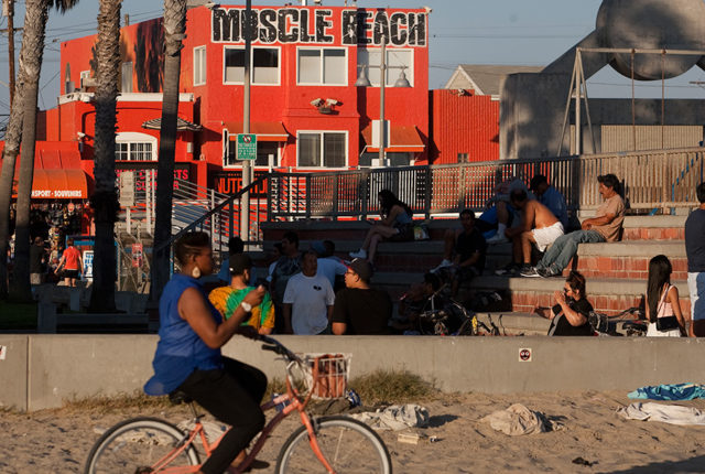 Muscle Beach along the Venice Beach Boardwalk. Photo by John Schreiber.