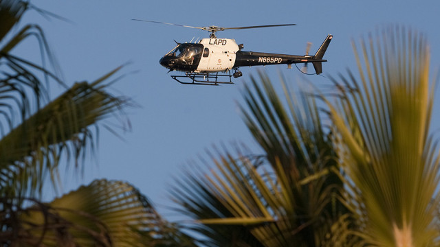 LAPD helicopter overhead