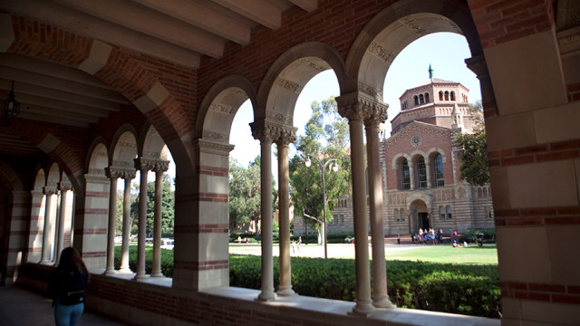 The Powell Library on the campus of UCLA in Los Angeles. Photo by John Schreiber.