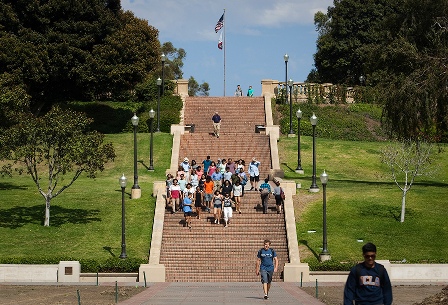 The Janss Steps on the campus of UCLA. Photo by John Schreiber.