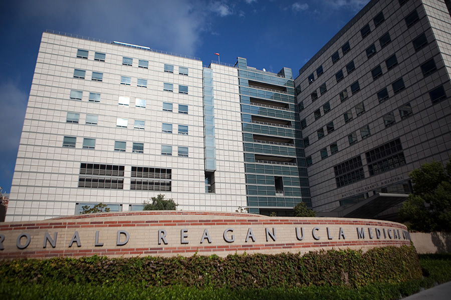 The Ronald Reagan UCLA Medical Center and Mattel Children's Hospital in Westwood. Photo by John Schreiber.