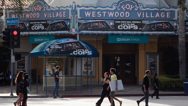 The historic Westwood Village Theater provides a landmark for the area. Photo by John Schreiber.
