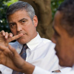 George Clooney with Obama