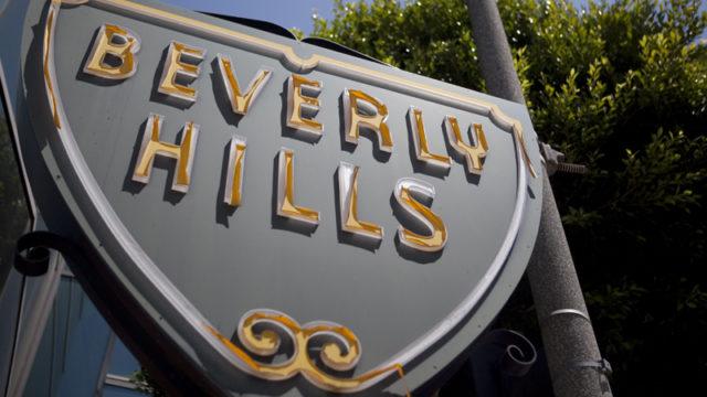 A Beverly Hills sign. Photo by John Schreiber.