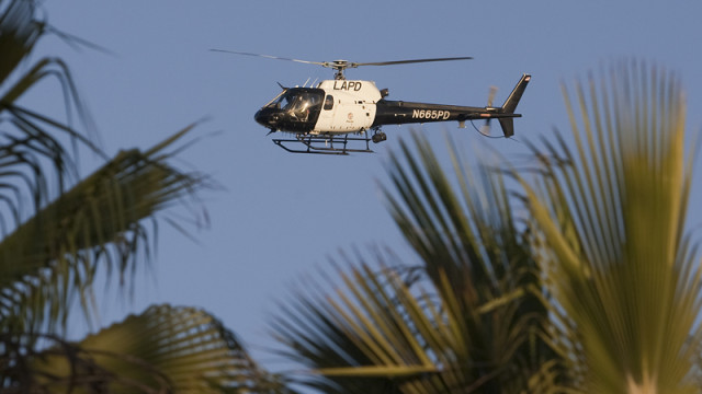 a los angeles police department helicopter