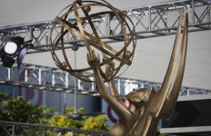 emmy awards statue on the red carpet