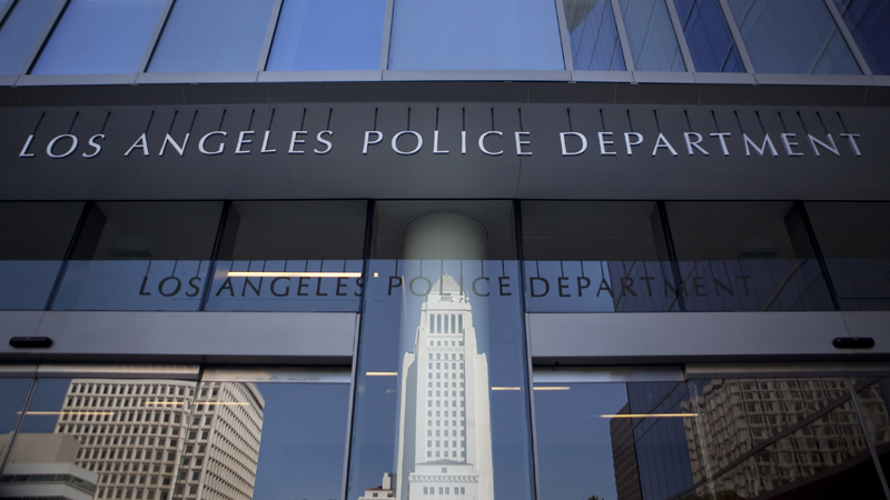 Los Angeles Police headquarters in downtown L.A. Photo by John Schreiber.