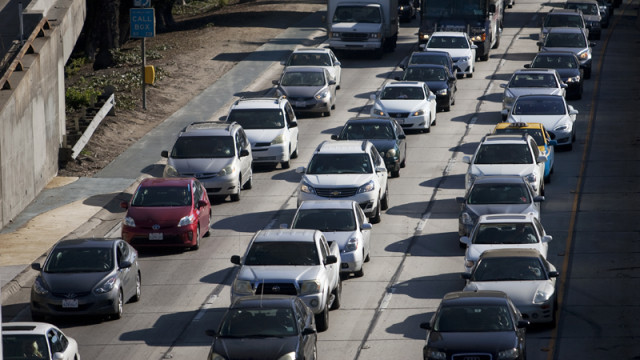 An example of a freeway traffic jam. Photo by John Schreiber.