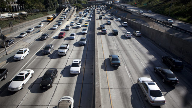 Freeway traffic. Photo by John Schreiber.
