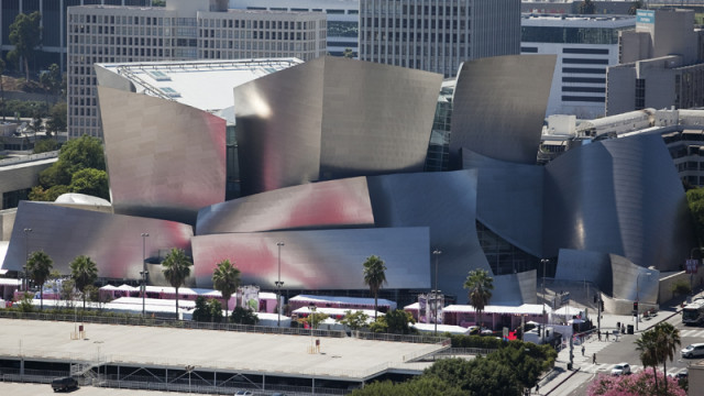 Frank Gehry's Walt Disney Concert Hall in downtown Los Angeles. Photo by John Schreiber.