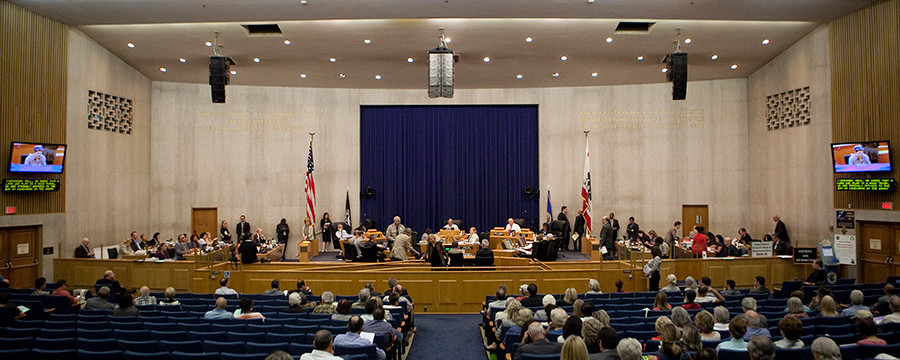 The Los Angeles County Board of Supervisors. Photo by John Schreiber.