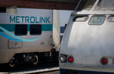 two metrolink trains