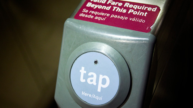 Metro's Tap Card system in use at Los Angeles Union Station. Photo by John Schreiber.