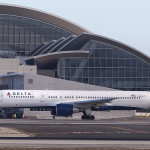 Delta Airliner At LAX