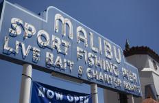 The Malibu Pier sign. Photo by John Schreiber.