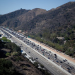 A view of the 405 Freeway in the Sepulveda Pass. Photo by John Schreiber.