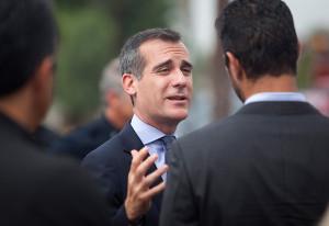 Los Angeles Mayor Eric Garcetti. Photo by John Schreiber.