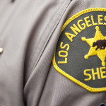 LASD arm patch on uniform