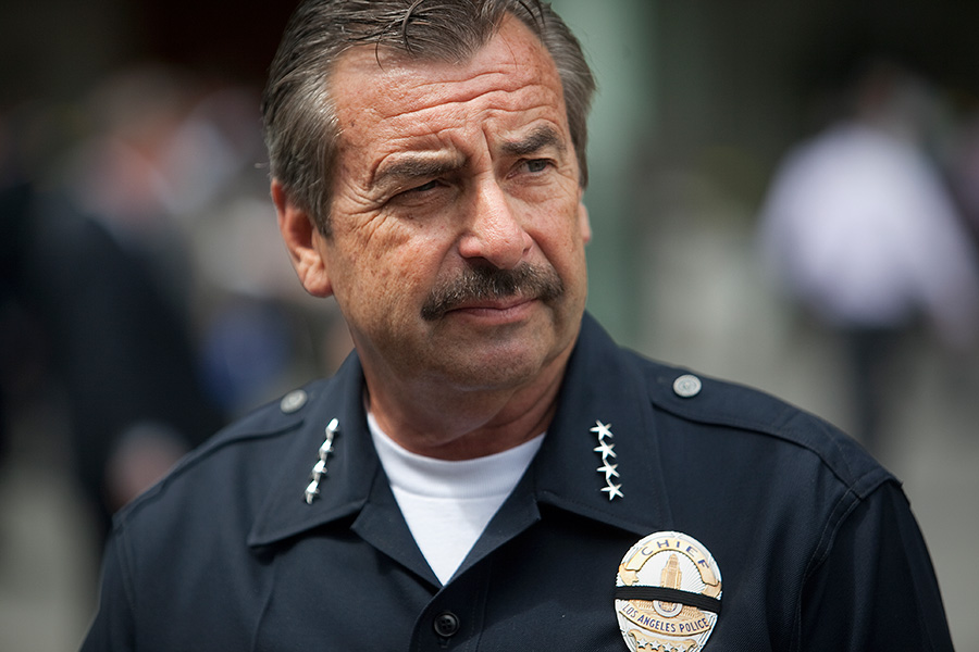 Los Angeles Police Chief Charlie Beck. Photo by John Schreiber.