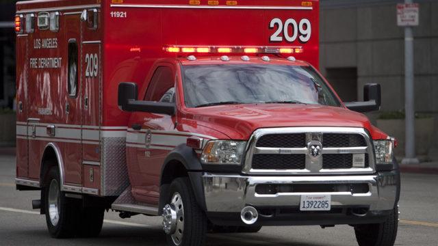An LA Fire Department ambulance.