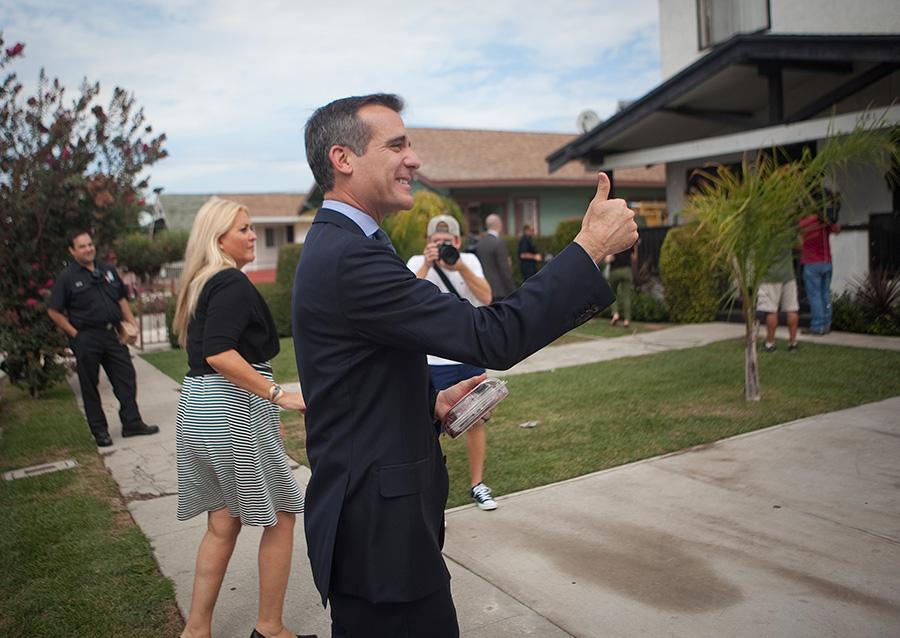 FILE: Los Angeles Mayor Eric Garcetti.