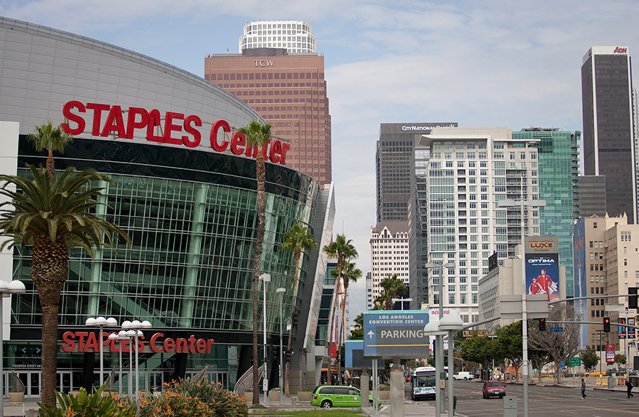 Staples Center and Downtown Buildings