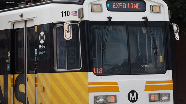 A Metro Expo Line train. Photo by John Schreiber.