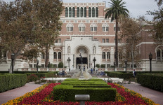 The USC campus library. Photo by John Schreiber.