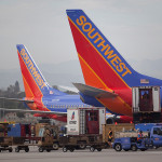 Southwest planes at LAX