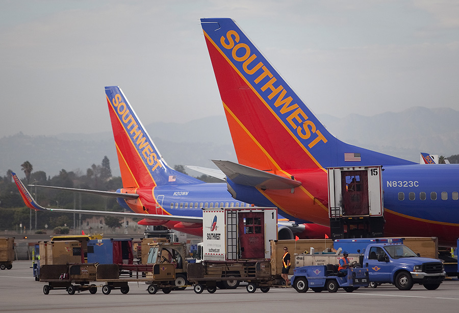 Southwest Airlines Planes at Los Angeles International Airport. Photo by John Schreiber.