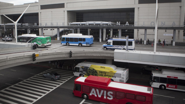 Shuttle buses at LAX
