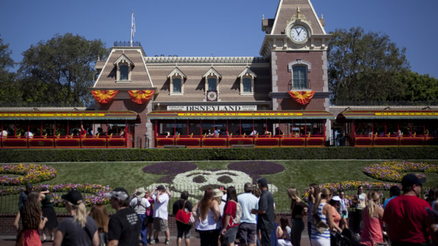 Disneyland Railroad Terminal and Lawn