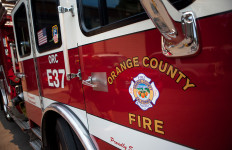 An Orange County Fire Authority truck.