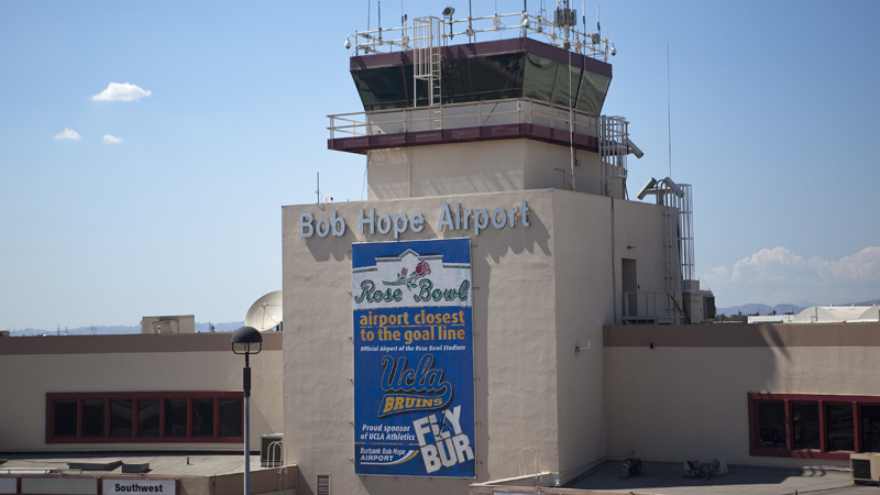 Cargo plane loses control at Burbank Airport, skids off