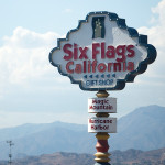 six flags magic mountain sign