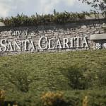 A City of Santa Clarita marker. Photo by John Schreiber.