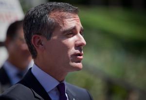 File photo of Los Angeles Mayor Eric Garcetti in 2014. Photo by John Schreiber.
