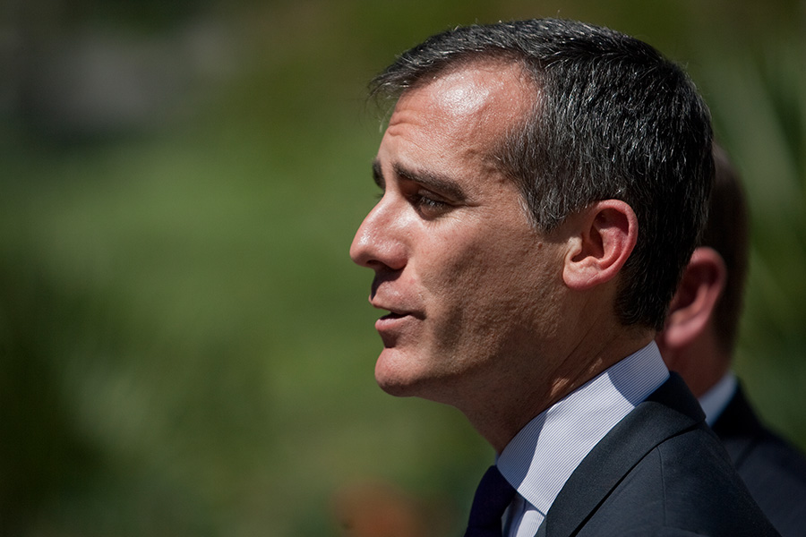 Los Angeles Mayor Eric Garcetti. Photo by John Schreiber.