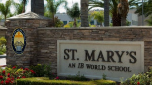 Entrance to St. Mary's School in Aliso Viejo. Image from LinkedIn page