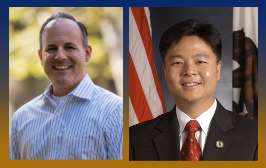 Elan Carr, left, and Ted Lieu, right.