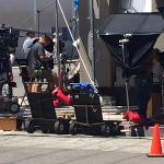 TV filming in downtown LA