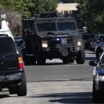 Law enforcement vehicles, including SWAT, similar to the vehicles used by the Beverly hills Police Department. Photo by John Schreiber.