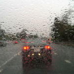 Rain on freeway
