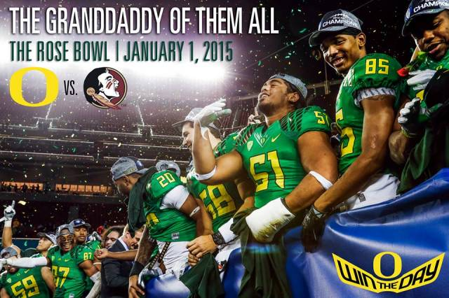 Oregon Ducks will be facing off against the Florida State Seminoles in the College Football Championship semifinals at the Rose Bowl. Photo courtesy of GoDucks.com
