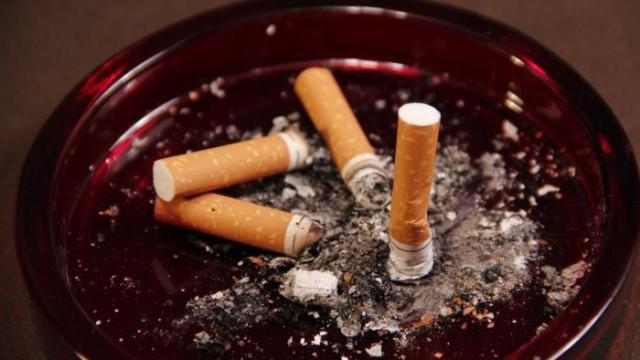 Used cigarette butts on an ashtray. Public domain photo via CDC/ Debora Cartagena.